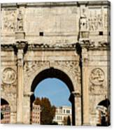 Rome - The Arch Of Constantine 3 Canvas Print