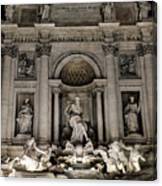 Rome - The Trevi Fountain At Night 3 Canvas Print