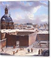 Rome Under The Snow Canvas Print