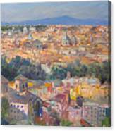 Rome View From Gianicolo Canvas Print