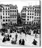 Rome View From The Spanish Steps Canvas Print