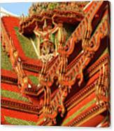 Roof Of Buddhist Temple In Thailand Canvas Print