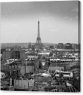Roof Of Paris. France Canvas Print