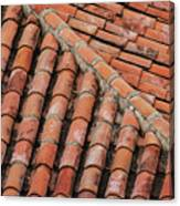 Roof Tiles And Mortar  Canvas Print