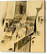 Roofs And Steeple Canvas Print
