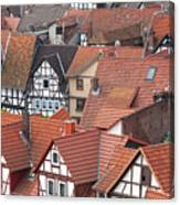 Roofs Of Bad Sooden-allendorf Canvas Print
