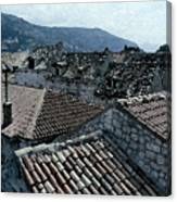 Roofs Of Dubrovnik Canvas Print