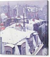 Roofs Under Snow Canvas Print