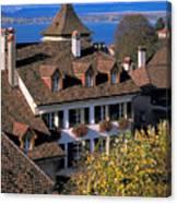 Rooftop In Geneva In Switzerland Canvas Print