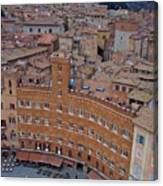 Rooftops And Cafes Of Il Campo Canvas Print