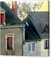 Rooftops, Chateaubriant Canvas Print