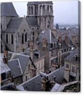 Rooftops Of Blois In France 2 Canvas Print