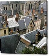 Rooftops Of Blois In France 3 Canvas Print