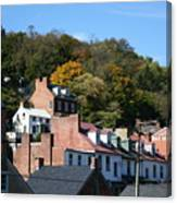 Rooftops Of Harpers Ferry Canvas Print