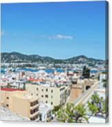 Rooftops Of Ibiza 4 Canvas Print