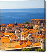 Rooftops Of Old Town Dubrovnik Canvas Print