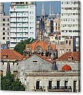 Rooftops Of Old Town Havana Canvas Print