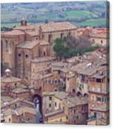 Rooftops Of Siena 2 Canvas Print