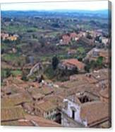 Rooftops Of Siena Canvas Print