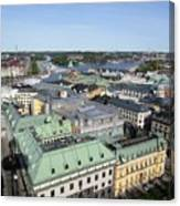 Rooftops Of Stockholm Canvas Print