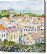 Rooftops Of Viviers Canvas Print