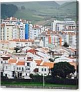 Rooftops Of Ponta Delgada Canvas Print