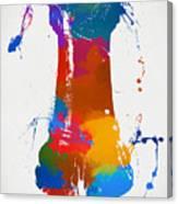 Rook Chess Piece Paint Splatter Canvas Print
