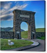 Roosevelt Arch At Yellowstone Dsc2522_05252018 Canvas Print