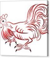 Rooster - Sign Of Chinese New Year Canvas Print