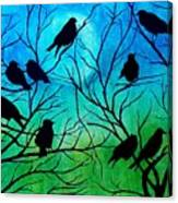 Roosting Birds Canvas Print