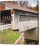 Root Rd Covered Bridge  Canvas Print