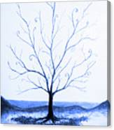 Roots Of A Tree In Blue Canvas Print