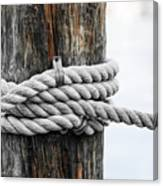 Rope Fence Fragment Canvas Print
