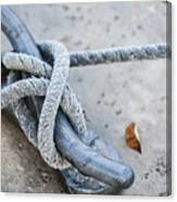 Rope On Cleat Canvas Print