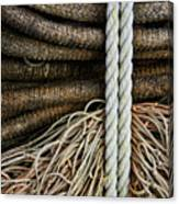 Ropes And Fishing Nets Canvas Print
