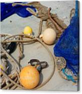 Ropes Nets And Bouys Canvas Print