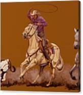 Ropin Pardners Canvas Print