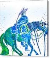 Roping Horse Canvas Print