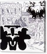Rorschach 3 Angel Of Death Canvas Print