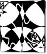 Rorschach Maze Canvas Print