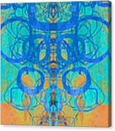 Rorschach Test Art Orange Canvas Print