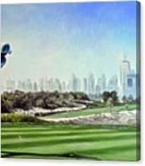 Rory At Ddc Emirates Gc Dubai 8th 2014  Canvas Print
