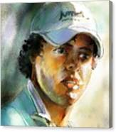 Rory Mcilroy Canvas Print