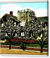 Rose-covered Residence, Long Beach Ca, 1910 Canvas Print
