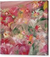 Rosa Bluetenmeer Canvas Print