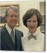 Rosalynn Carter And Jimmy Carter Canvas Print