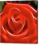 Rose-5845-fractal Canvas Print
