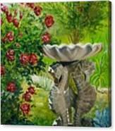 Rose Bath Canvas Print
