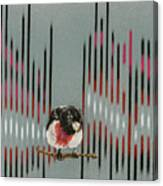 Rose Breasted Grosbeak And Song Canvas Print