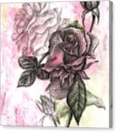 Rose Bud Pink Canvas Print